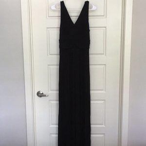 LOFT Black Knit Maxi Dress